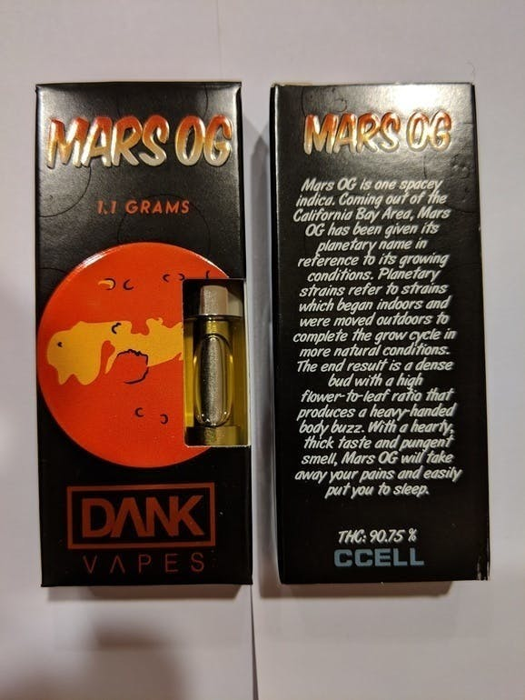 Order Mars OG dankvape full cartridge online