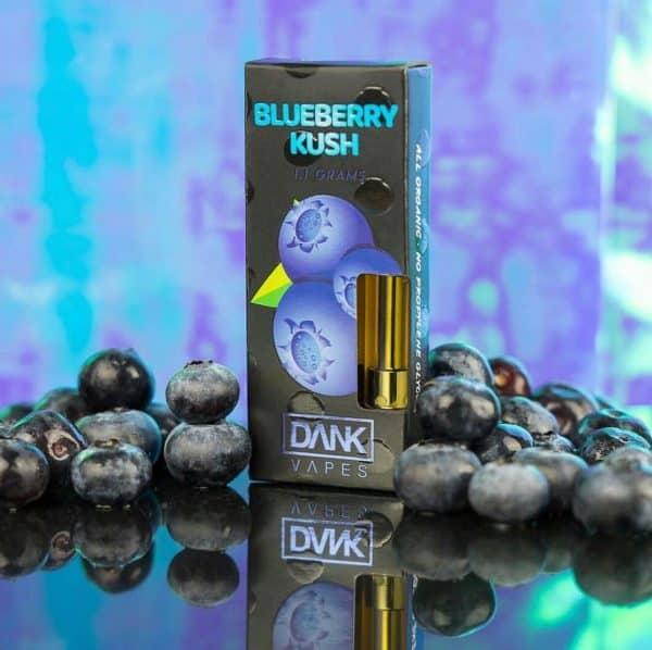 Order Blueberry Kush Full Gram Dank Vape Cartridge