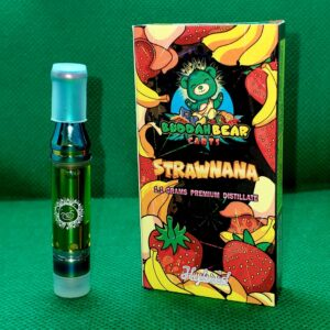Strawnana Buddah Bear Carts 1.1 Grams Premium distillate